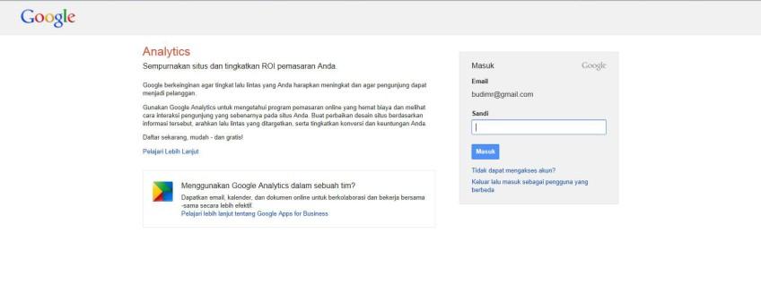 Google Analitic Intranet2012