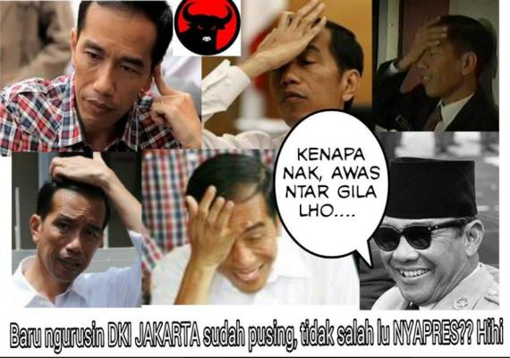 Jokowi pusing