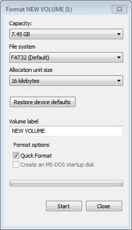 format-usb-key
