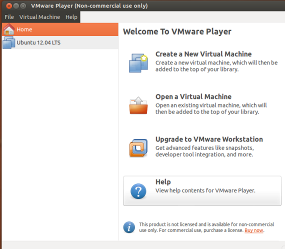VMware player-Ubuntu 12.04LTS