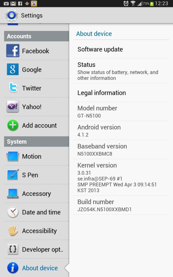 Samsung-N5100-version