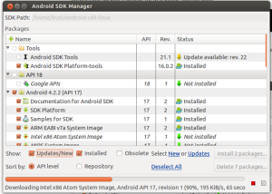 Android SDK Manager2