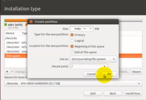 Ubuntu-W8-InstallUbuntu-Partisi Ext4