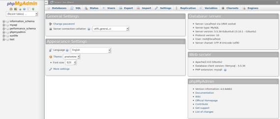 PhpMyAdmin-DatabaseSetting