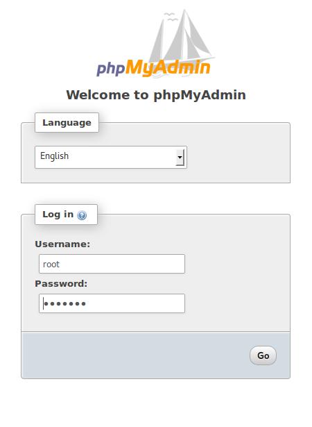 PhpMyAdmin-Welcome