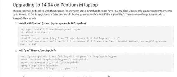 Enable PAE on Pentium M Laptop