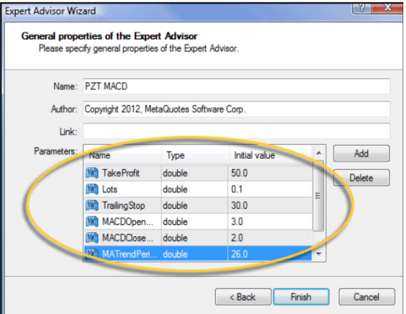 MT4 ExperAdvisorParameter