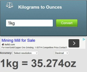 1 kg to ounce